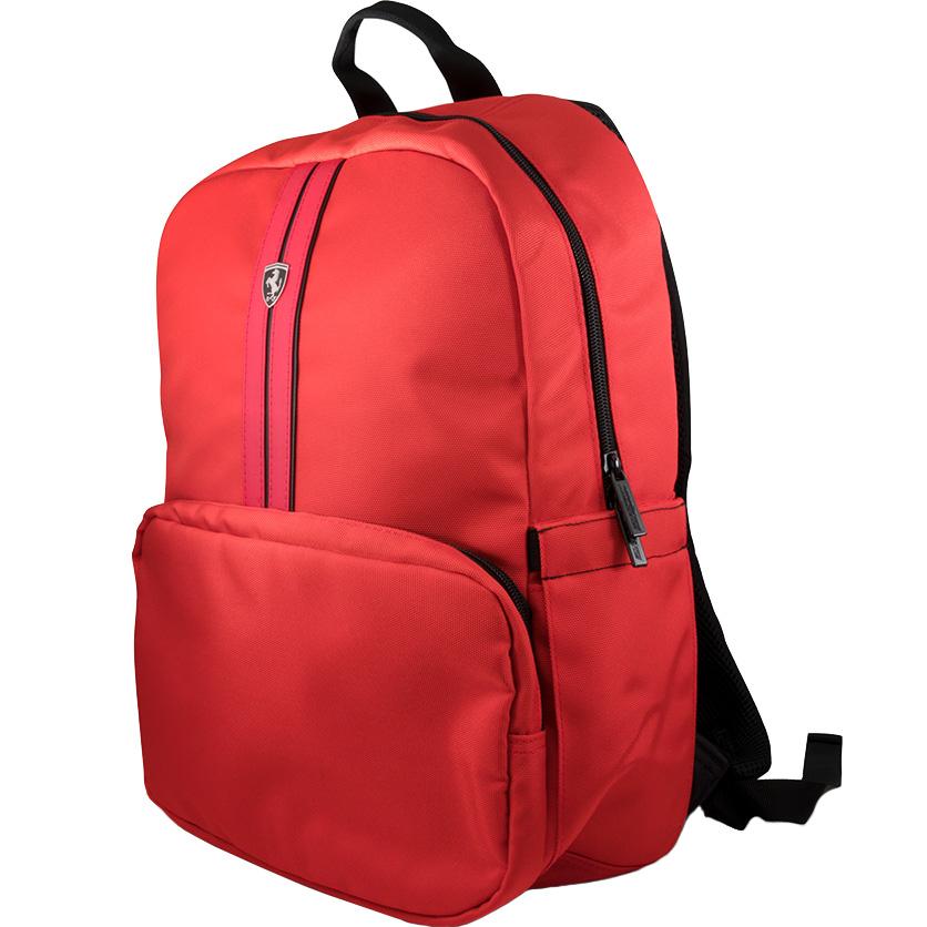 Рюкзак Ferrari Urban Collection для MacBook 15 красный (FEURBP15RE)Рюкзаки<br>С Ferrari Urban Collection вы сможете отправиться куда угодно и не бояться за сохранность своих вещей!<br><br>Цвет: Красный<br>Материал: Нейлон, полиуретановая кожа