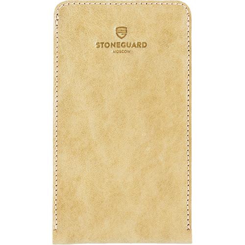 Чехол кожаный Stoneguard для iPhone 6/6s/7 бежевый (512)