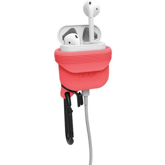 Чехол Catalyst Waterproof Case для AirPods розовый (Coral)Кабели и аксессуары для наушников<br>Уникальный чехол для AirPods, который убережёт их от повреждений и влаги!<br><br>Цвет: Розовый<br>Материал: Силикон, металл