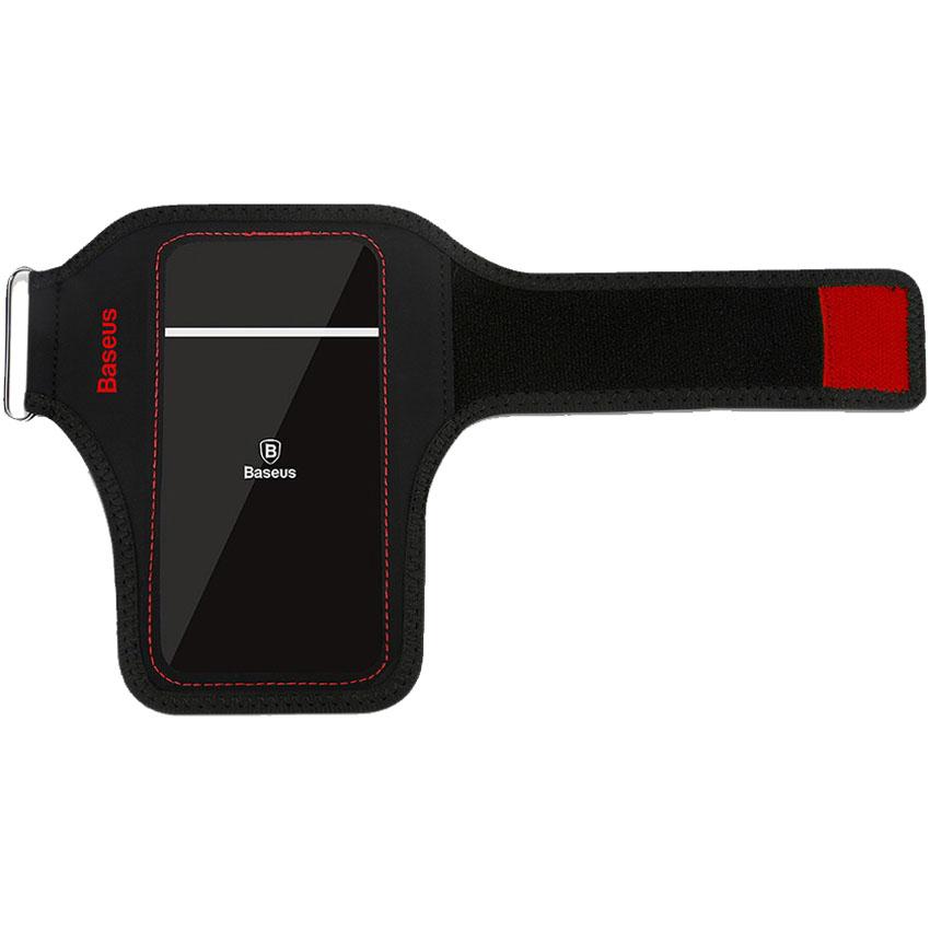 Чехол Baseus Flexible Wristband для смартфонов 5.8 красный/чёрныйЧехлы для Nokia Lumia<br>Благодаря Baseus Flexible Wristband вы сможете всегда брать смартфон с собой во время занятий спортом!<br><br>Цвет товара: Красный<br>Материал: Водостойкий неопрен, полиуретан