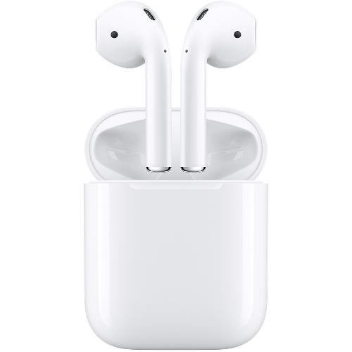 Беспроводные наушники Apple AirPodsВнутриканальные наушники<br>Лучшие наушники для ваших Apple устройств!<br><br>Цвет товара: Белый<br>Материал: Пластик