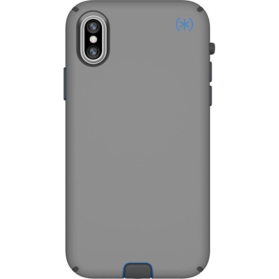 Чехол Speck Presidio Sport для iPhone X серый Gunmetal/синий кобальт/серый SlateЧехлы для iPhone X<br>360° защиты от неприятностей и повреждений!<br><br>Цвет: Серый<br>Материал: Поликарбонат