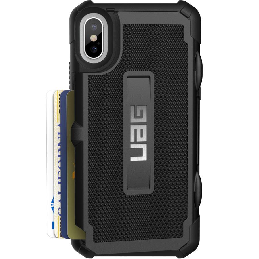 Чехол UAG Trooper Series Case для iPhone X чёрныйЧехлы для iPhone X<br>С UAG Trooper Series Case все самое важное будет под рукой!<br><br>Цвет товара: Чёрный<br>Материал: Термопластичный полиуретан, поликарбонат