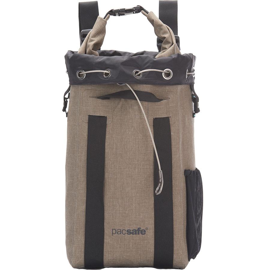 Водонепроницаемый рюкзак Pacsafe Dry 15L Portable safe бежевый (Sand)Сумки и аксессуары для путешествий<br>Pacsafe Dry 15L Portable safe защитит ваши вещи не только от воды, но и от злоумышленников!<br><br>Цвет: Бежевый<br>Материал: Нейлон Nylonx (1000D), полиэстер (900D), полиуретан (0.15mm), нержавеющая сталь