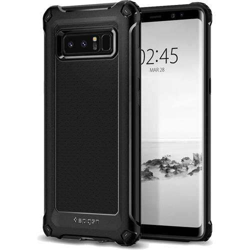 Чехол Spigen Rugged Armor Extra для Galaxy Note 8 чёрный (587CS21833)Чехлы для Samsung Galaxy Note<br>Чехол Spigen для Galaxy Note 8  Rugged Armor, экстра-черный (587CS21833)<br><br>Цвет товара: Чёрный<br>Материал: Термопластичный полиуретан