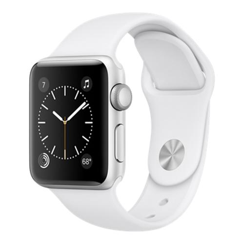 Часы Apple Watch Series 2 38 мм, серебристый алюминий, спортивный ремешок белыйУмные часы<br>Часы Apple Watch Series 2 38 мм, серебристый алюминий, спортивный ремешок белый<br><br>Цвет товара: Белый<br>Материал: Алюминий серии 7000 анодированный<br>Модификация: 38 мм