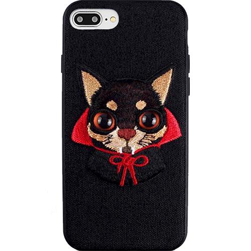 Чехол Mutural Design Lovely Pet для iPhone 7 Plus / 8 Plus чёрныйЧехлы для iPhone 7 Plus<br>Mutural Design Lovely Pet притягивает взгляд с первой секунды.<br><br>Цвет: Чёрный<br>Материал: Пластик, текстиль, силикон