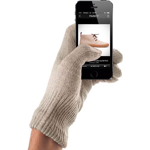 Перчатки Mujjo Touchscreen Gloves для iPhone/iPod/iPad/etc песочные (Размер M/L)Перчатки для экрана<br>Mujjo Touchscreen Gloves обеспечивают точное нажатие на участок дисплея и гарантирует безотказный отклик устройства.<br><br>Цвет товара: Бежевый<br>Материал: Акрил, нейлон<br>Модификация: M