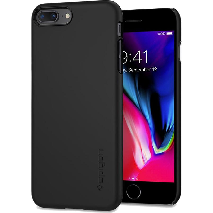 Чехол Spigen Thin Fit для iPhone 8 Plus (Айфон 8 Плюс) чёрный (SGP-055CS22238)Чехлы для iPhone 8 Plus<br>Spigen Thin Fit — это чехол с лёгким и свежим дизайном, который создан специально для iPhone 8 Plus!<br><br>Цвет: Чёрный<br>Материал: Поликарбонат