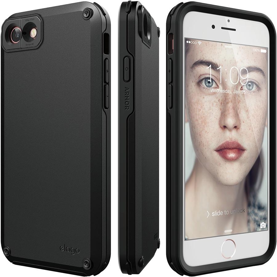 Чехол Elago Armor Hard TPU/PC для iPhone 7 / 8 чёрныйЧехлы для iPhone 7<br>Благодаря Elago Armor Hard TPU/PC под надёжной защитой будет не только ваш смартфон, но и ваши ценности!<br><br>Цвет: Чёрный<br>Материал: Поликарбонат, полиуретан