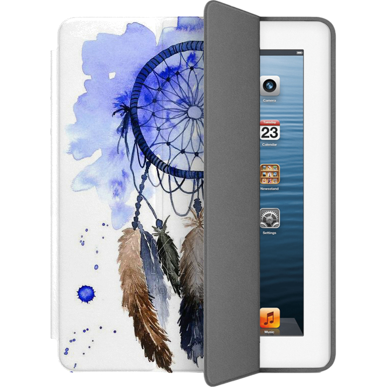 Чехол Muse Smart Case для iPad 2/3/4 Ловец СновЧехлы для iPad 1/2/3/4<br>Чехлы Muse — это индивидуальность, насыщенность красок, ультрасовременные принты и надёжность.<br><br>Цвет: Белый<br>Материал: Поликарбонат, полиуретановая кожа