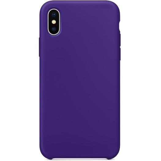 Силиконовый чехол YablukCase для iPhone X ультрафиолетЧехлы для iPhone X<br>Лёгкий и практичный YablukCase — идеальная пара для вашего iPhone X!<br><br>Цвет товара: Фиолетовый<br>Материал: Силикон