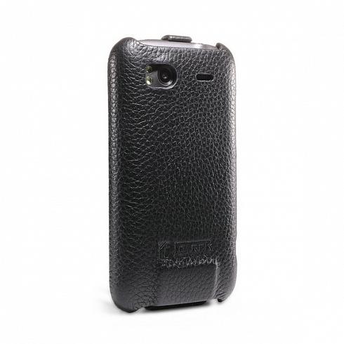 Кожаный чехол iCarer для HTC Sensation ЧерныйЧехлы для для HTC<br>Чехол iCarer для HTC Sensation черный<br><br>Цвет товара: Чёрный<br>Материал: Пластик, кожа