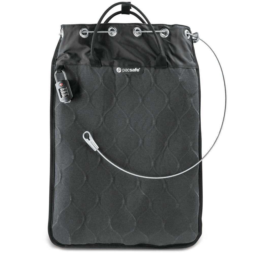 Сумка-сейф PacSafe Travelsafe 12L GII чёрнаяРюкзаки<br>PacSafe Travelsafe GII - не просто сумка, а настоящий сейф!<br><br>Цвет: Чёрный<br>Материал: Текстиль, металл