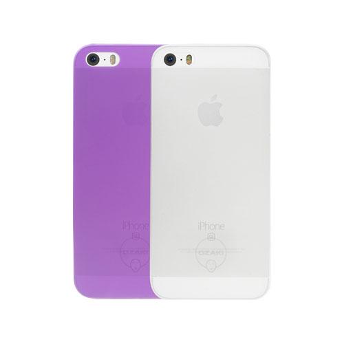 Набор чехлов Ozaki О!Coat 0.3 Jelly для iPhone 5/5S/SE фиолетовый + прозрачныйЧехлы для iPhone 5s/SE<br>Набор из двух пластиковых чехлов Ozaki Jelly 0.3 для iPhone 5/5s/SE - clear + pruple<br><br>Цвет товара: Разноцветный<br>Материал: Пластик