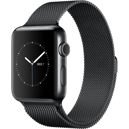 Часы Apple Watch Series 2 42 мм, нержавеющая сталь «чёрный космос», миланский сетчатый браслет «чёрный космос»Умные часы<br>Часы Apple Watch Series 2 42 мм, нержавеющая сталь «чёрный космос», миланский сетчатый браслет «чёрн<br><br>Цвет товара: Чёрный<br>Материал: Нержавеющая сталь 316L «Чёрный космос»<br>Модификация: 42 мм
