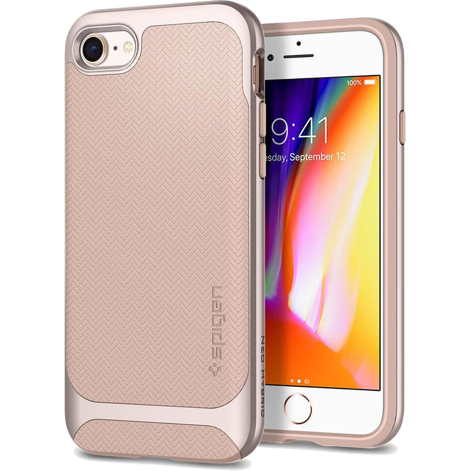 Чехол Spigen Neo Hybrid Herringbone для iPhone 8/7 бежевый Pale Dogwood (054CS22202)Чехлы для iPhone 7<br>Spigen Neo Hybrid Herringbone — стильный и прочный чехол для мощного смартфона Apple iPhone 8.<br><br>Цвет товара: Бежевый<br>Материал: Поликарбонат, термопластичный полиуретан