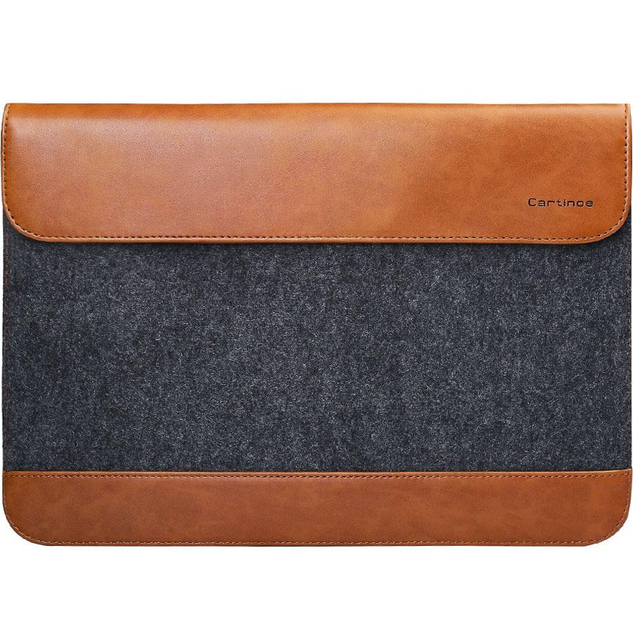 Чехол Cartinoe Envelope Series для MacBook 13 серый/коричневыйЧехлы для MacBook Air 13<br>Благодаря Cartinoe Envelope Series ни пыль, ни царапины не будут страшны вашему MacBook.<br><br>Цвет товара: Коричневый<br>Материал: Войлок, кожа
