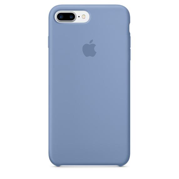 Силиконовый чехол Apple Case для iPhone 7 Plus (Айфон 7 Плюс) лазурный