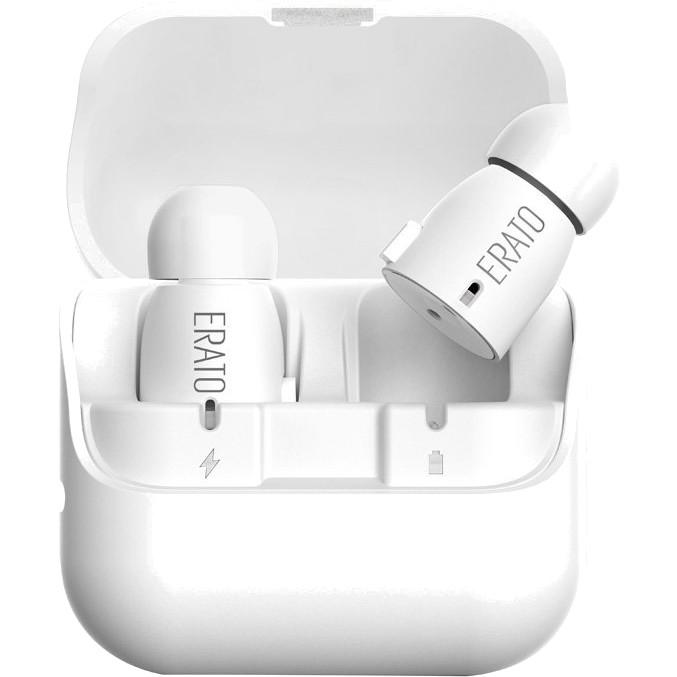 Беспроводные наушники ERATO Verse белыеВнутриканальные наушники<br>Полностью свободные от проводов, наушники ERATO Verse превосходны и в качестве звучания.<br><br>Цвет товара: Белый<br>Материал: Пластик, soft-touch покрытие, силикон
