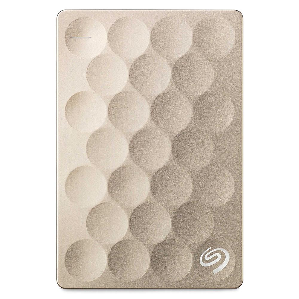 Внешний жесткий диск Seagate Original Backup Plus Ultra Slim 1 Тб золотойВнешние накопители<br>Seagate Original Backup Plus Ultra Slim — тонкий и элегантный жёсткий диск.<br><br>Цвет товара: Золотой<br>Материал: Пластик, металл<br>Модификация: 1 Тб