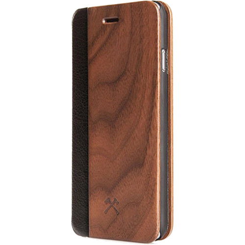 Чехол Woodcessories EcoFlip Business для iPhone X кожа + орехЧехлы для iPhone X<br>Чехол-книжка Woodcessories EcoFlip Business для iPhone X — оригинальный и удобный чехол для вашего смартфона!<br><br>Цвет: Коричневый<br>Материал: Дерево, пластик, веган-кожа
