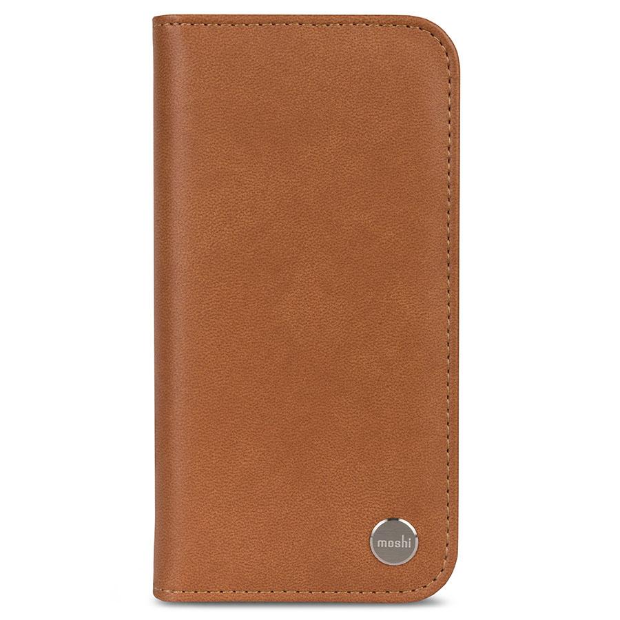 Чехол Moshi Overture для iPhone X коричневыйЧехлы для iPhone X<br>Благодаря Moshi Overture вы можете всегда носить с собой всё самое необходимое.<br><br>Цвет товара: Коричневый<br>Материал: Веган кожа, поликарбонат