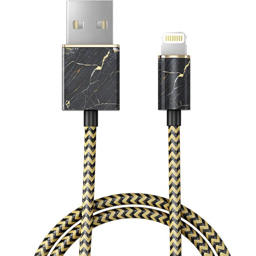 Кабель Ideal of Sweden Fashion Cable (1 метр) Port Laurent MarbleКабели Lightning<br>Прочный и гибкий кабель, который обладает по-настоящему ярким дизайном!<br><br>Цвет товара: Чёрный<br>Материал: Пластик, нейлон