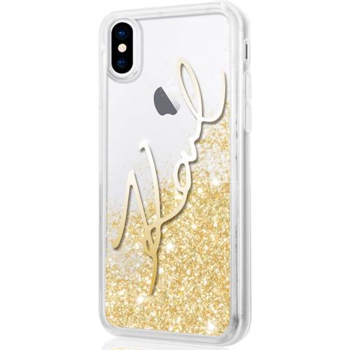 Чехол Karl Lagerfeld Liquid Glitter «Karl Signature» для iPhone X прозрачный/золотистыйЧехлы для iPhone X<br>Чехлы серии «Karl Signature» от известного на весь мир модельера подчеркнут ваш экстравагантный стиль и надолго сохранят привлекательный внешни...<br><br>Цвет товара: Прозрачный<br>Материал: Термопластичный полиуретан