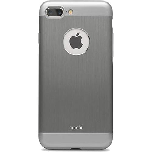 Чехол Moshi Armour для iPhone 7 Plus (Айфон 7 Плюс) графитЧехлы для iPhone 7/7 Plus<br>Moshi Armour - это непревзойденный внешний вид и надежная защита.<br><br>Цвет товара: Серый<br>Материал: Металл, поликарбонат