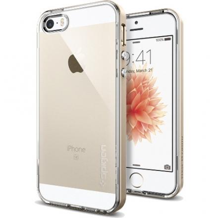 Чехол Spigen Neo Hybrid Crystal для iPhone 5/5S/SE золотой (SGP-041CS20182)Чехлы для iPhone 5s/SE<br>Чехол Spigen Neo Hybrid Crystal для iPhone SE золотой (SGP-041CS20182)<br><br>Цвет товара: Золотой<br>Материал: Пластик, резина