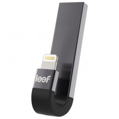 Флешка Leef iBridge 3 128Gb Lightning - USB чёрная