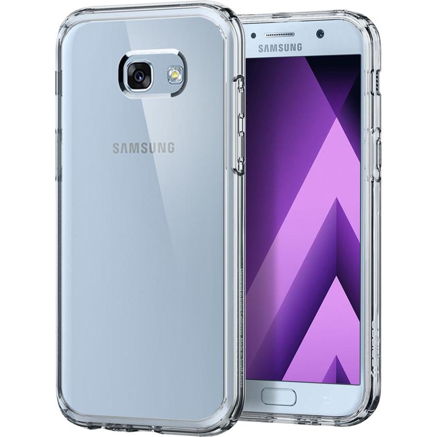 Чехол Spigen Ultra Hybrid для Samsung Galaxy A7 (2017) кристально-прозрачный (575CS21186)Чехлы для Samsung Galaxy A Series<br>Чехол Ultra Hybrid — это сочетание двух материалов: термопластичного полиуретана и поликарбоната, что позволило создать легкий и прочный чехол...<br><br>Цвет товара: Прозрачный<br>Материал: Термопластичный полиуретан, поликарбонат