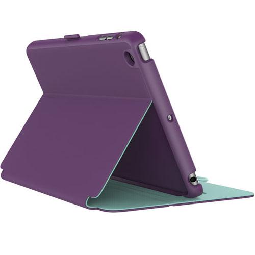 Чехол Speck StyleFolio для iPad Mini 4 фиолетовый/зелёныйЧехлы для iPad mini 4<br>Speck StyleFolio представляет из себя тонкий и практически невесомый чехол.<br><br>Цвет товара: Фиолетовый<br>Материал: Поликарбонат, полиуретан