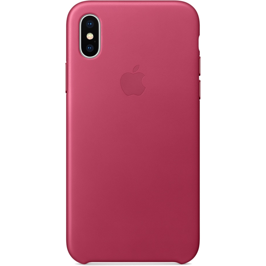 Кожаный чехол Apple Leather Case для iPhone X «розовая фуксия» (Pink Fuchsia)Чехлы для iPhone X<br>Кожаный чехол от Apple — отличное дополнение к вашему iPhone X.<br><br>Цвет товара: Розовый<br>Материал: Натуральная кожа
