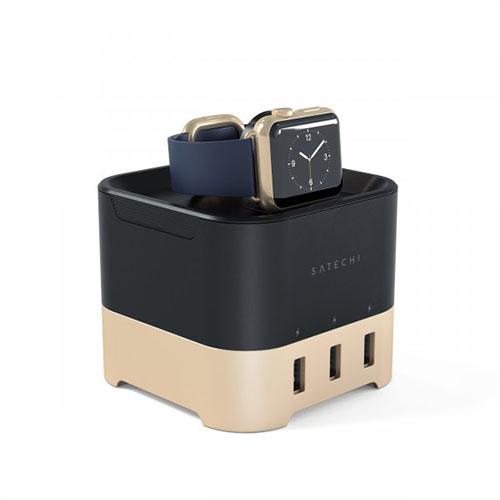 Док-станция Satechi Smart Charging Stand для Apple Watch 1 и 2, Fitbit Blaze и смартфонов золотаяДокстанции Apple Watch<br>Satechi Smart Charging Stand - это док-станция с превосходной функциональностью.<br><br>Цвет товара: Золотой<br>Материал: Металл, пластик
