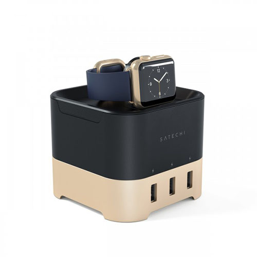 Док-станция Satechi Smart Charging Stand для Apple Watch 1 и 2, Fitbit Blaze и смартфонов золотая. Производитель: Satechi, артикул: 82188