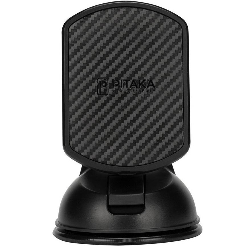 Автодержатель PITAKA Magnetic Mount Suction Cup чёрныйАвтодержатели<br>С PITAKA Magnetic Mount использовать смартфон за рулём станет просто как никогда!<br><br>Цвет товара: Чёрный<br>Материал: Пластик, углеродное волокно