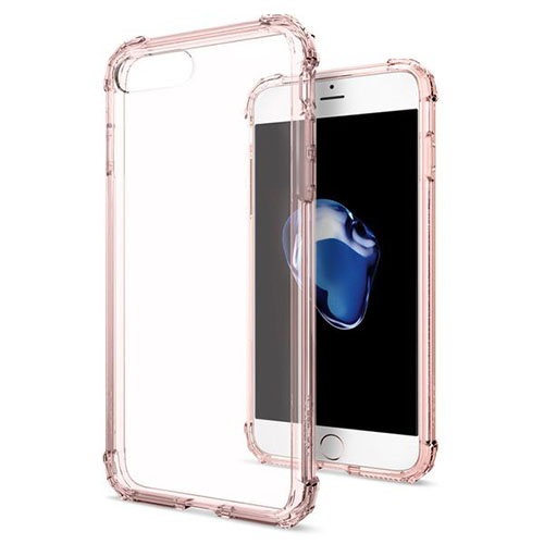 Чехол Spigen Crystal Shell для iPhone 7 Plus кристальный-розовый (SGP-043CS20501)Чехлы для iPhone 7 Plus<br>Сочетание поликарбоната и полиуретана придают чехлу Crystal Shell превосходные защитные и амортизирующие свойства.<br><br>Цвет товара: Розовый<br>Материал: Термопластичный полиуретан TPU