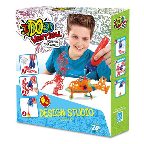 Набор 3D ручек IDO3D Vertical Милые создания (155237C) 4 ручки (розовая, белая, синяя, жёлтая)3Д ручки для рисования<br>3D ручка IDO3D Vertical - настоящая волшебная палочка!<br><br>Цвет товара: Разноцветный<br>Материал: Пластик, металл