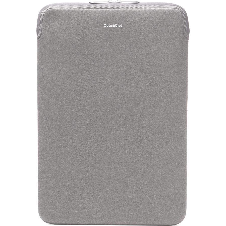 Чехол CoteCiel Zipper Sleeve для iPad светло-серыйЧехлы для iPad Air<br>Чехол Cote&amp;Ciel Zippered Sleeve защитит iPad от царапин, пыли, влаги, а в случае падения убережет от сколов и более серьёзных повреждений.<br><br>Цвет товара: Серый<br>Материал: Неопрен, текстиль