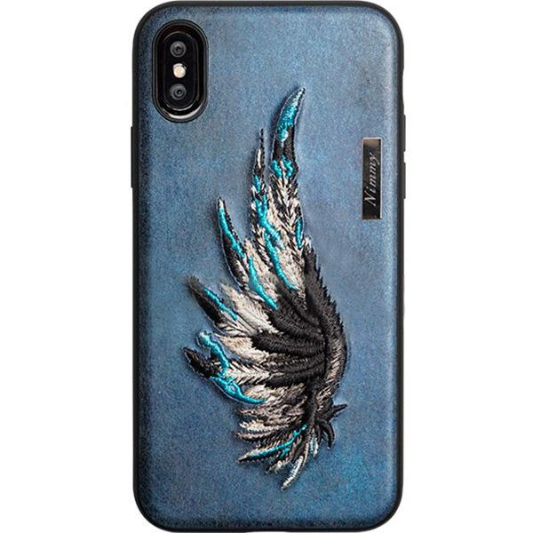 Чехол Nimmy Fantasy Denim для iPhone X (Крыло) синийЧехлы для iPhone X<br>Чехлы Nimmy Fantasy Denim — это тандем стиля и качества.<br><br>Цвет: Синий<br>Материал: Пластик, силикон, текстиль