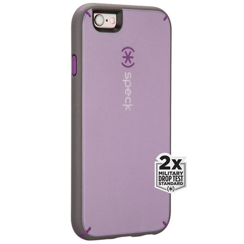 Чехол Speck MightyShell для iPhone 6/6s фиолетовый/серыйЧехлы для iPhone 6/6s<br>Чехол Speck MightyShell для iPhone 6/6s фиолетовый/серый<br><br>Цвет товара: Фиолетовый<br>Материал: Пластик, резина