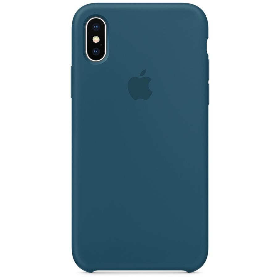 Силиконовый чехол Apple Silicone Case для iPhone X синий (Cosmos Blue)Чехлы для iPhone X<br>Силиконовый чехол от Apple — отличное дополнение к вашему iPhone X.<br><br>Цвет товара: Синий<br>Материал: Силикон