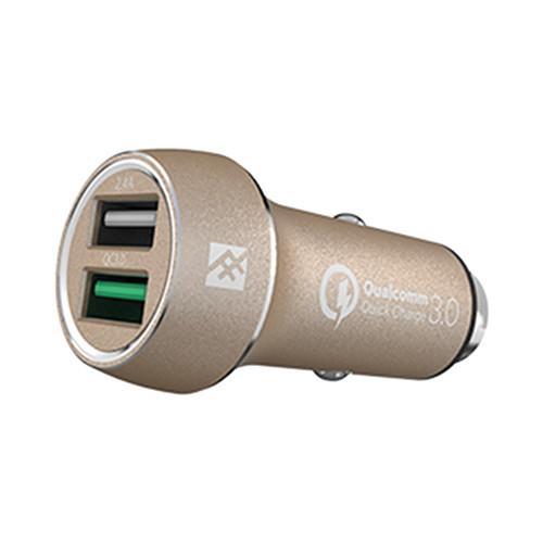 Автозарядка iFrogz UniqueSync Premium Dual Car Charger золотистаяАвтозарядки<br>Это компактное зарядное устройство для смартфонов, планшетов и множества других портативных гаджетов с поддержкой Quick Charge 3.<br><br>Цвет товара: Золотой<br>Материал: Пластик, металл