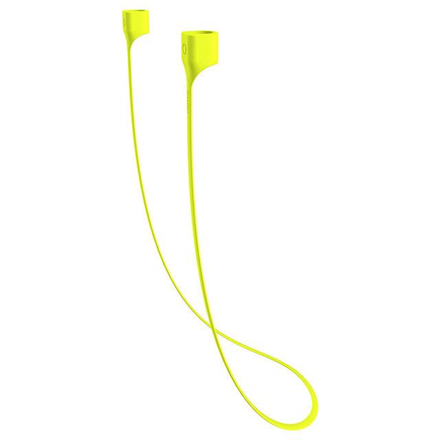 Держатель для наушников Baseus Earphone Strap For Airpods зелёныйКабели и подставки для наушников<br>Baseus Earphone Strap способен удержать наушники даже в самых экстремальных условиях.<br><br>Цвет товара: Зелёный<br>Материал: Силикон
