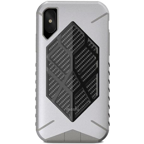 Чехол Moshi Talos для iPhone X серыйЧехлы для iPhone X<br>Чехол Moshi Talos обеспечивает исключительную защиту для вашего iPhone X при случайных падениях.<br><br>Цвет товара: Серый<br>Материал: Поликарбонат, полиуретан, микрофибра (подкладка)