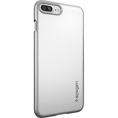 Чехол Spigen Thin Fit для iPhone 7 Plus (Айфон 7 Плюс) серебристый (SGP-043CS20735)Чехлы для iPhone 7 Plus<br>Ультратонкий и невероятно лёгкий, словно пёрышко, чехол Spigen Thin Fit практически не прибавит объёма и веса мощному смартфону.<br><br>Цвет товара: Серебристый<br>Материал: Поликарбонат