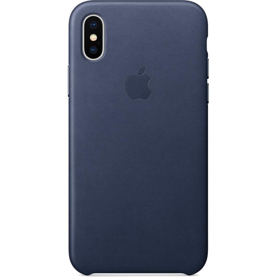 Кожаный чехол Apple Leather Case для iPhone X тёмно-синий (Midnight Blue)Чехлы для iPhone X<br>Кожаный чехол от Apple — отличное дополнение к вашему iPhone X.<br><br>Цвет товара: Синий<br>Материал: Натуральная кожа