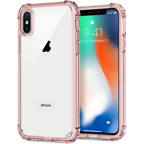 Чехол Spigen Crystal Shell для iPhone X розовый кристалл (057CS22143)Чехлы для iPhone X<br>Сочетание поликарбоната и термопластичного полиуретана придают чехлу Crystal Shell превосходные защитные и амортизирующие свойства.<br><br>Цвет товара: Розовый<br>Материал: Термопластичный полиуретан, поликарбонат